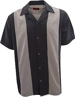 Men Short Sleeve Shirts Retro Bowling Short Sleeve Two Tone Men's Cool Shirt