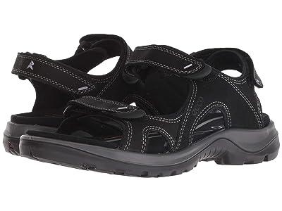 ECCO Sport Offroad Lite II Sandal (Black Yak Nubuck) Women