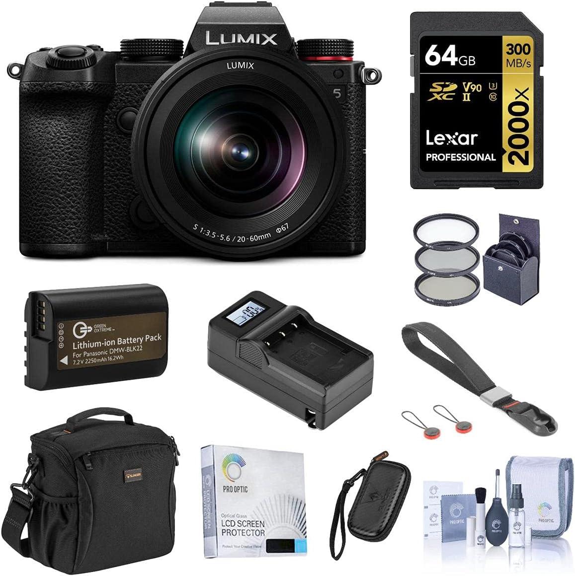 Panasonic 35% OFF Lumix DC-S5 Mirrorless Digital Max 90% OFF S 20-60mm L with Camera