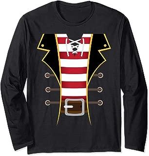 Pirate Buccaneer Novelty Diy Halloween Costume Man Gift Long Sleeve T-Shirt