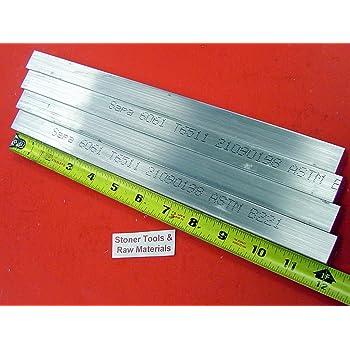 """2 Pieces 3//8/"""" X 3/"""" X 8/"""" Long ALUMINUM FLAT BAR STOCK SOLID 6061-T6511 .375/"""""""