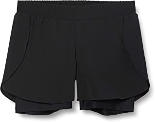 AURIQUE Amazon Brand Women's Double Layer Running Shorts