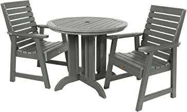 product image for highwood AD-DNW36-CGE Weatherly 3-Piece Round Dining Set, Height, Coastal Teak