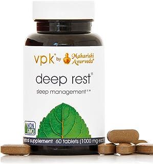 استراحت عمیق | 60 قرص گیاهی - 1000 میلی گرم ea. | پشتیبانی طبیعی برای خواب بی وقفه و استراحت