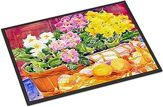 """Caroline's Treasures 6061MAT Flower Primroses Indoor or Outdoor Doormat, 18"""" x 27"""", Multicolor"""