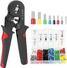 Nishore HSC8 6-4 0 25-10m㎡ AWG23-7 Kit de ferramentas de crimpagem de virola Alicate de crimpagem de alta dureza com termi...