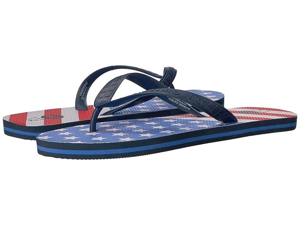 Vineyard Vines American Flag Printed Flip-Flop (Azure Blue) Men