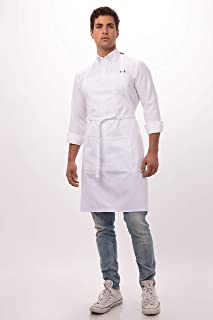 Chef Works Unisex Butcher Apron, White 34-Inch Length by 24-Inch Width