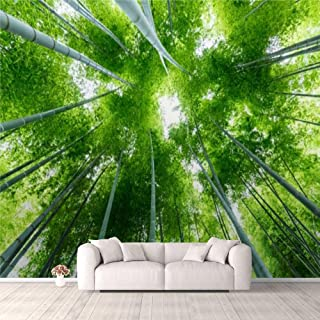 Modern 3D PVC Design Removable Wallpaper for Bedroom Living Room Bamboo forest in summer Wallpaper Stick and Peel Wall Sti...