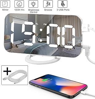 Digital Alarm Clock,Mirror Digital Clock with 6.5