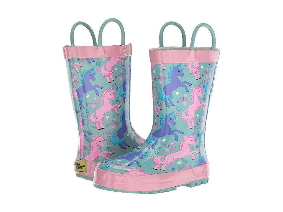 Western Chief Kids Lucky Unicorn (Toddler/Little Kid) (Turquoise) Girls Shoes