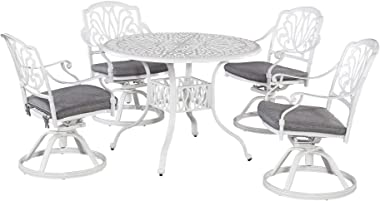homestyles 6662-53 Outdoor Swivel Rocking Chair, 25.5Lx24.5Dx36.25H, White