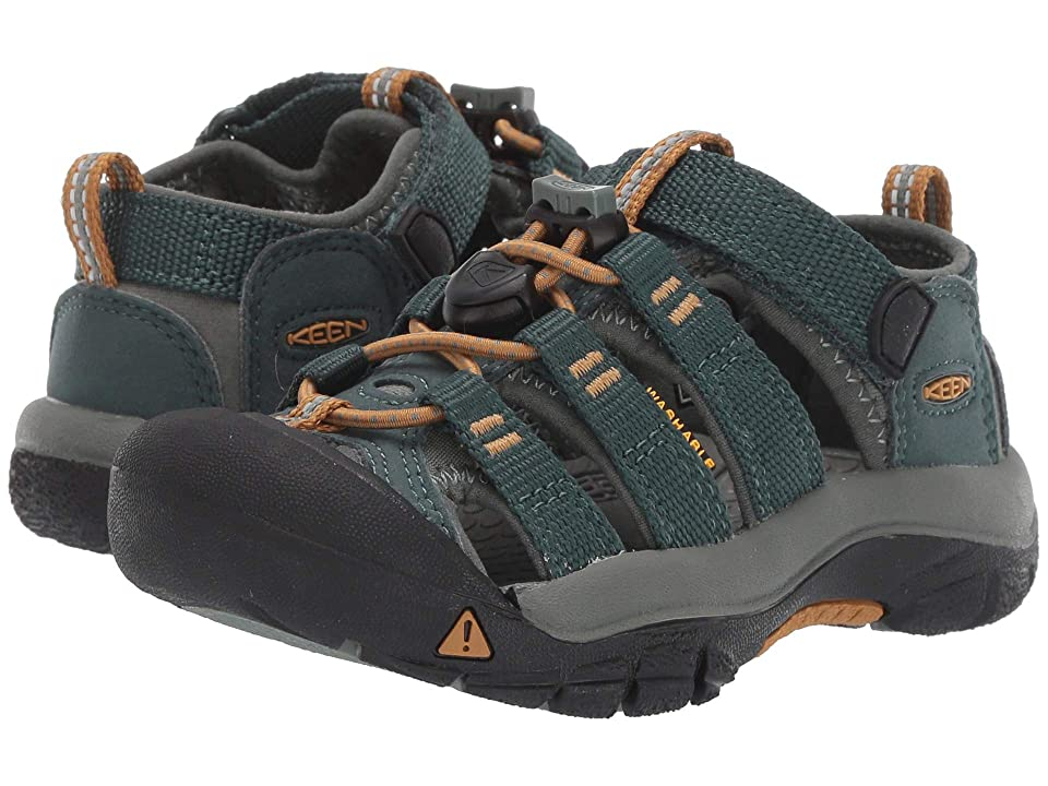 Keen Kids Newport H2 (Toddler/Little Kid) (Green Gables/Wood Thrush) Boys Shoes