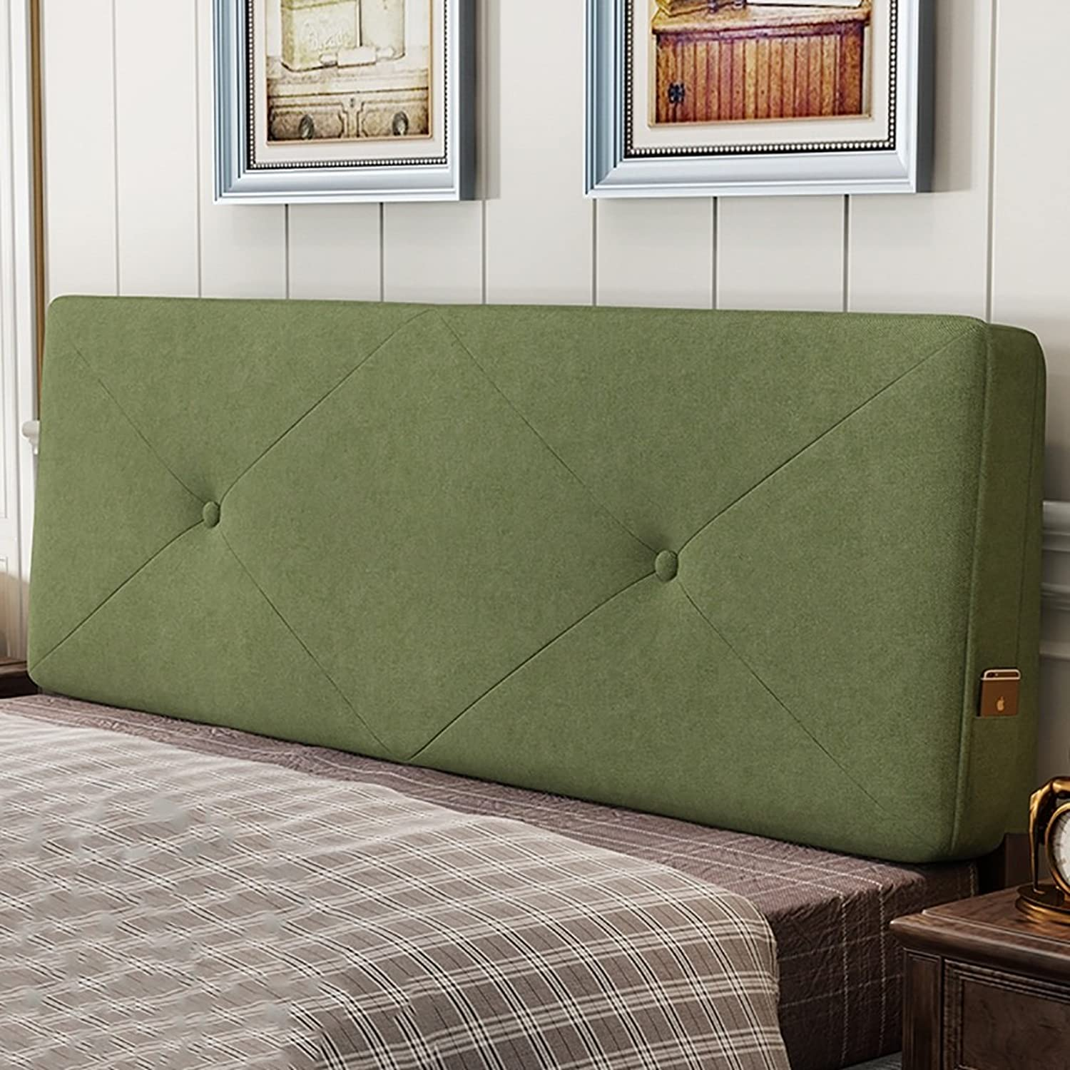 Headboard Bed Backrest Cushion Bed Cushion Bedside Pillow Headboard Polyester Fabric Large Soft Pillow Lumbar Support Detachable Washable 5 Solid colors 5