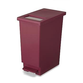 トンボ ユニード ゴミ箱 プッシュ & ペダルペール 45L ワインレッド