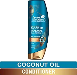 Head and Shoulders Conditioner, Moisture Renewal, Anti Dandruff Treatment and Scalp Care, Royal Oils Collection with Coconut Oil, for Natural and Curly Hair, 13.5 fl oz