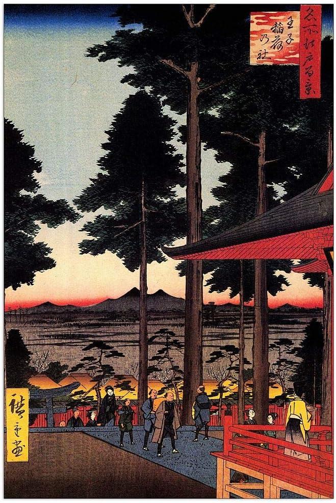 ArtPlaza Hiroshige Utagawa - Oji Panel Shrine Inari Discount is Max 51% OFF also underway Decorative