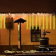 Led meteorenregen lichten, 80cm 8 buizen Vallende regendruppel IJspegel Sneeuwval Lichtslingers waterdichte lichtslingers ...
