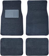 Riseking 4pcs fit Dodge Lincoln Ram set of 4 Heavy Duty All Weather Trimmable PVC Rubber Grey Car Floor Carpet Mats