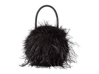 Loeffler Randall Zadie Feather Circle Tote (Black) Tote Handbags