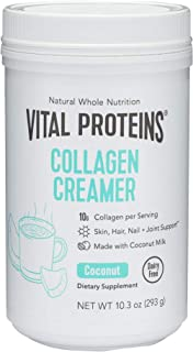 Vital Proteins Coconut Collagen Creamer - Keto Friendly MCTs - No Added Sugars, Dairy Free