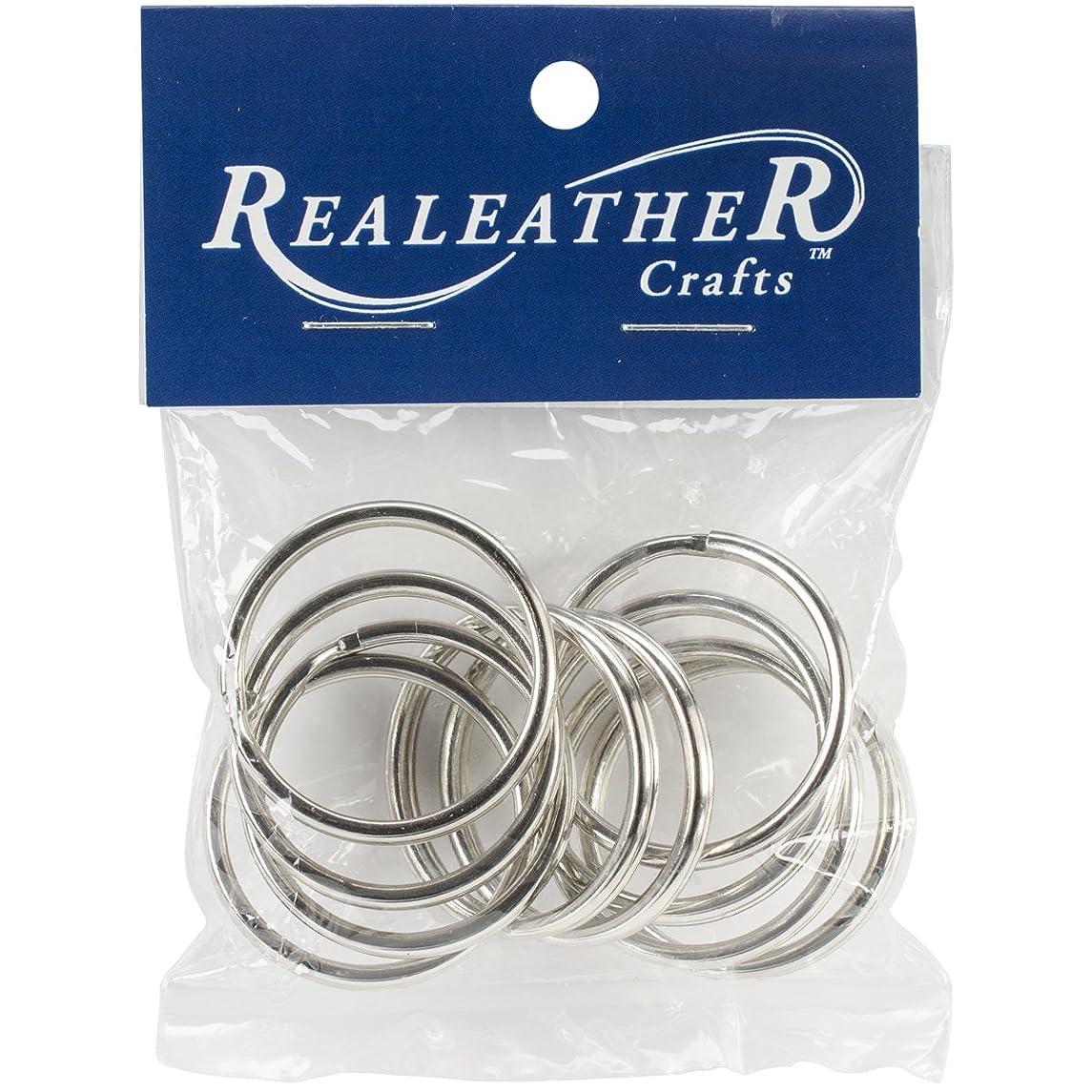Realeather Crafts BKR12510 Split Key Rings (10 Pack), 1.25