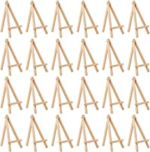 MEEDEN 6Inch 24Pcs Mini Natural Pine Wood Display Easel, A-Frame Painting Party Tripod Easel, Ideal for Holder Stand Small...