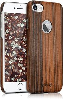 kalibri Funda para Apple iPhone 7/8 - Carcasa Trasera [Ultra Delgada] de [Madera] - Cover Protector [marrón]