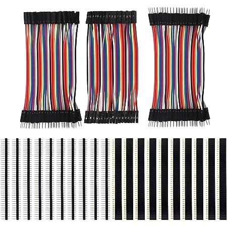 Keeyees 120pcs 3x10cm Jumper Wire Kabel Drahtbrücken Computer Zubehör