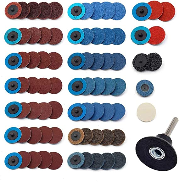 Assorted 2in Roloc Type R Surface Prep Conditioning Discs Coarse, Medium, Fine Rogue River Tools 30pc