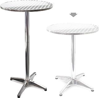 Mesa de bar Bistro Aluminio Altura regulable 70cm o 110cm Ø