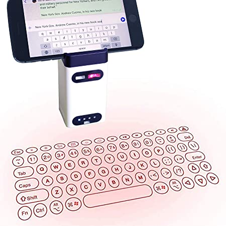 Heartbeat Laser Projection Keyboard, Bluetooth Virtual Keyboard with Keyboard/Mouse/Mobile Power/Mobile Bracket, Wireless Wired Connection Keyboard for Windows/iOS/Android