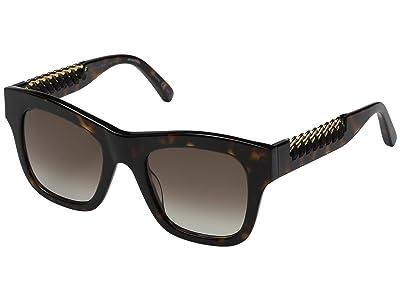 Stella McCartney SC0011S (Havana/Brown Gradient) Fashion Sunglasses