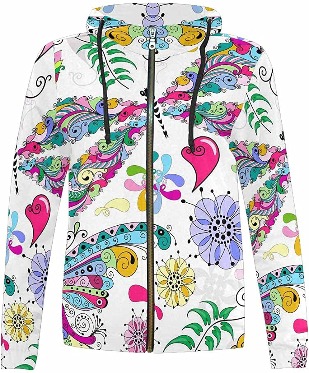Over item handling ☆ InterestPrint Autumn Little Flowers in Liberty Kids Style At the price of surprise Hoodie