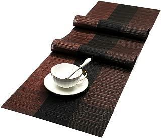 SHACOS Woven Vinyl Table Runner for Indoor Outdoor Runner Table Mats 54