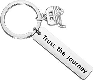 BNQL Trust The Journey Keychain Inspirational Quote Keyring Mantra Jewelry Gift