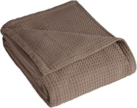 Elite Home Products Grand Hotel Cotton Blanket, King, Taupe