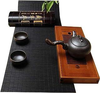 XQKXHZ Coureur De Table De Bambou De Style Japonais, Platefichons Lavables Antidérapants Antidérapants, pour La Famille De...