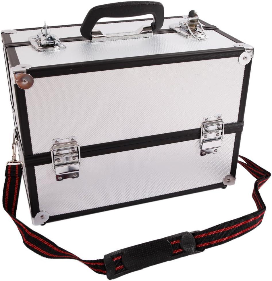 Nashville-Davidson Mall N7 Aluminum Alloy Makeup Train Super sale period limited Box Organizer Case Silve Jewelry