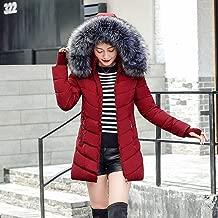 Hiuwa Womens Parka Winter Jacket Parka Oblique Zipper with Hat Long Winter Jackets and Coats Camperas Mujer Invierno