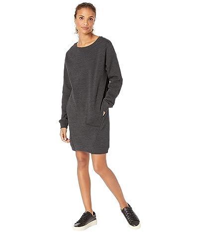 tentree Fleece Crew Dress (Meteorite Black Heather) Women