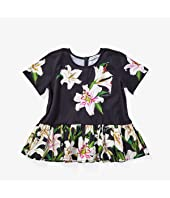 Lily Print Jersey and Poplin T-Shirt (Toddler/Little Kids)
