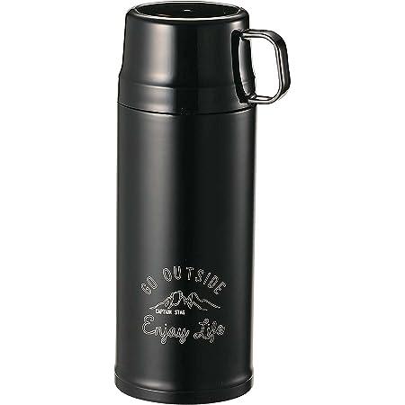 キャプテンスタッグ(CAPTAIN STAG) スポーツボトル 水筒 直飲み・コップ飲み 2WAY ダブルステンレスボトル 真空断熱 保温・保冷 600ml ブラック モンテ UE-3447