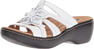 0bb74d88fbac Amazon.com  CLARKS - White   Sandals   Shoes  Clothing