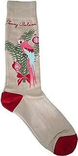 Tommy Bahama Men's Macaw-y Christmas Dress Socks - Stone
