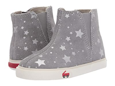 See Kai Run Kids Keegan (Toddler/Little Kid) (Gray Suede Stars) Girl