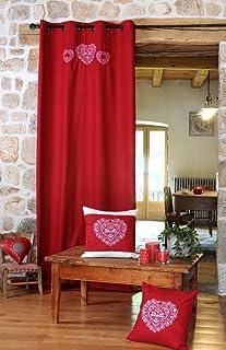 Exceptionnel Véga Déco Rideau Montagne ROCHEBRUNE Rouge 135 X 260 Cm