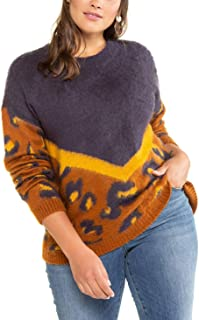 Leo Patch-Pullover suéter para Mujer