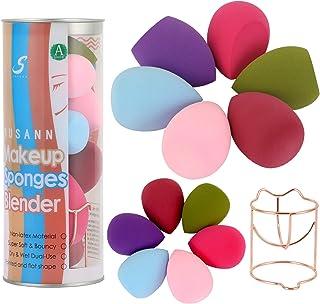 Makeup Sponge Blender Beauty Sponge Set 12pcs and Beauty Foundation Sponge Blender Holder 1PCS,Blending Sponges Cosmetic P...