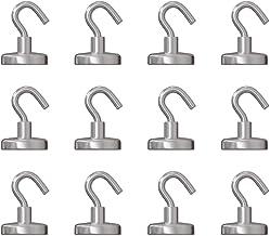 GAUDER Magnetische haak, sterke magneten met haak, magnetische haak van neodymium (12 stuks)